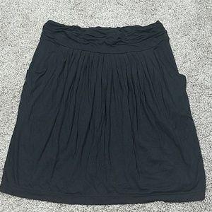 🔥BCBGmaxazria Pleated Stretch Waist Skirt Pockets